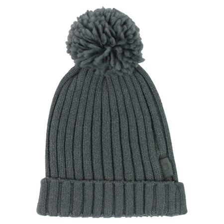 Real Fur Double Bobble Hat Blue