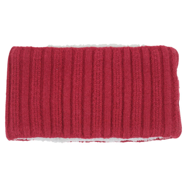 Basic Knit Fluffy Snood in Red