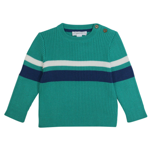 Ribbed Striped Round Neck Jumper