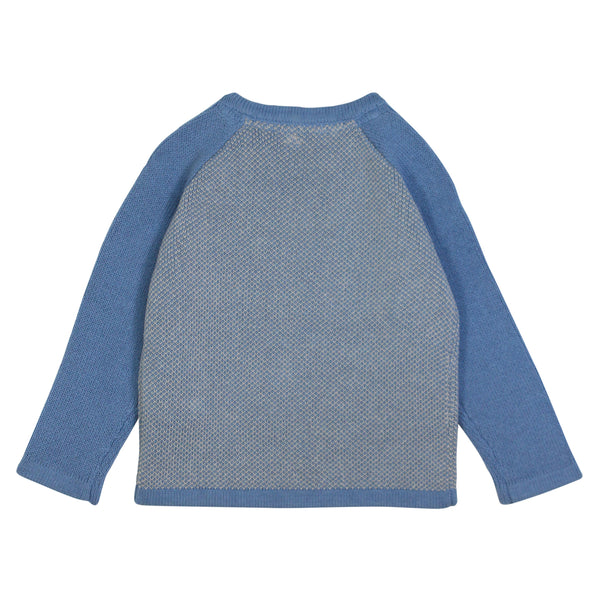 Contrast Knit Round Neck Jumper