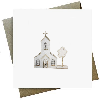 Christening Church Card