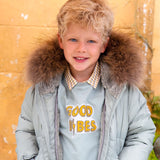 Boys Fur Trim Down Coat