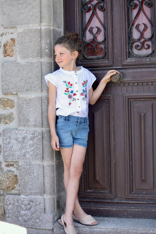 Oleron Embroidered Top