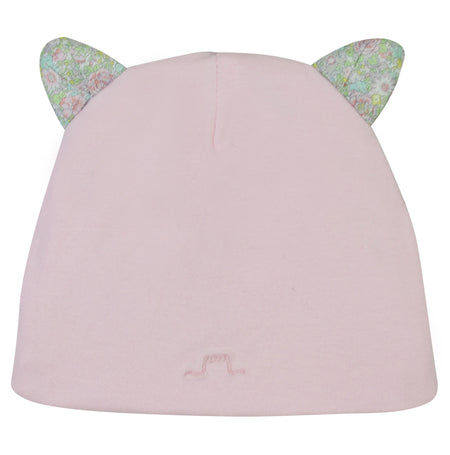 Real Fur Bobble Hat Pink