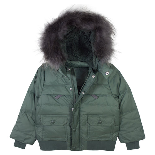 Fur Hood Down Boys Coat - Chateau de Sable