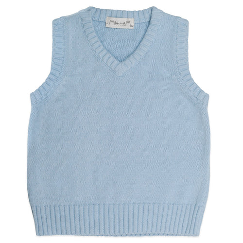 Traditional Cotton Tank Top Pale Blue - Chateau de Sable