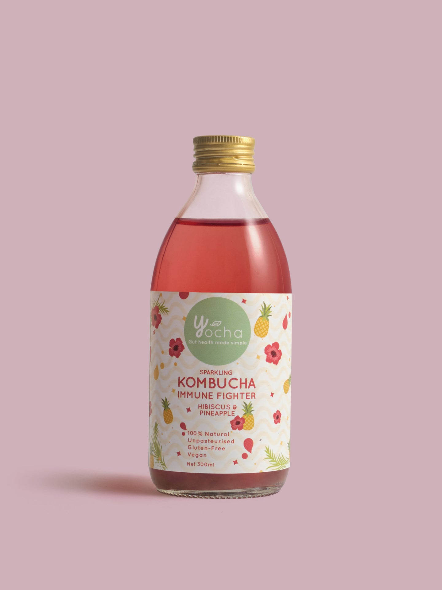 Immune Fighter: Hibiscus & Pineapple 300ml