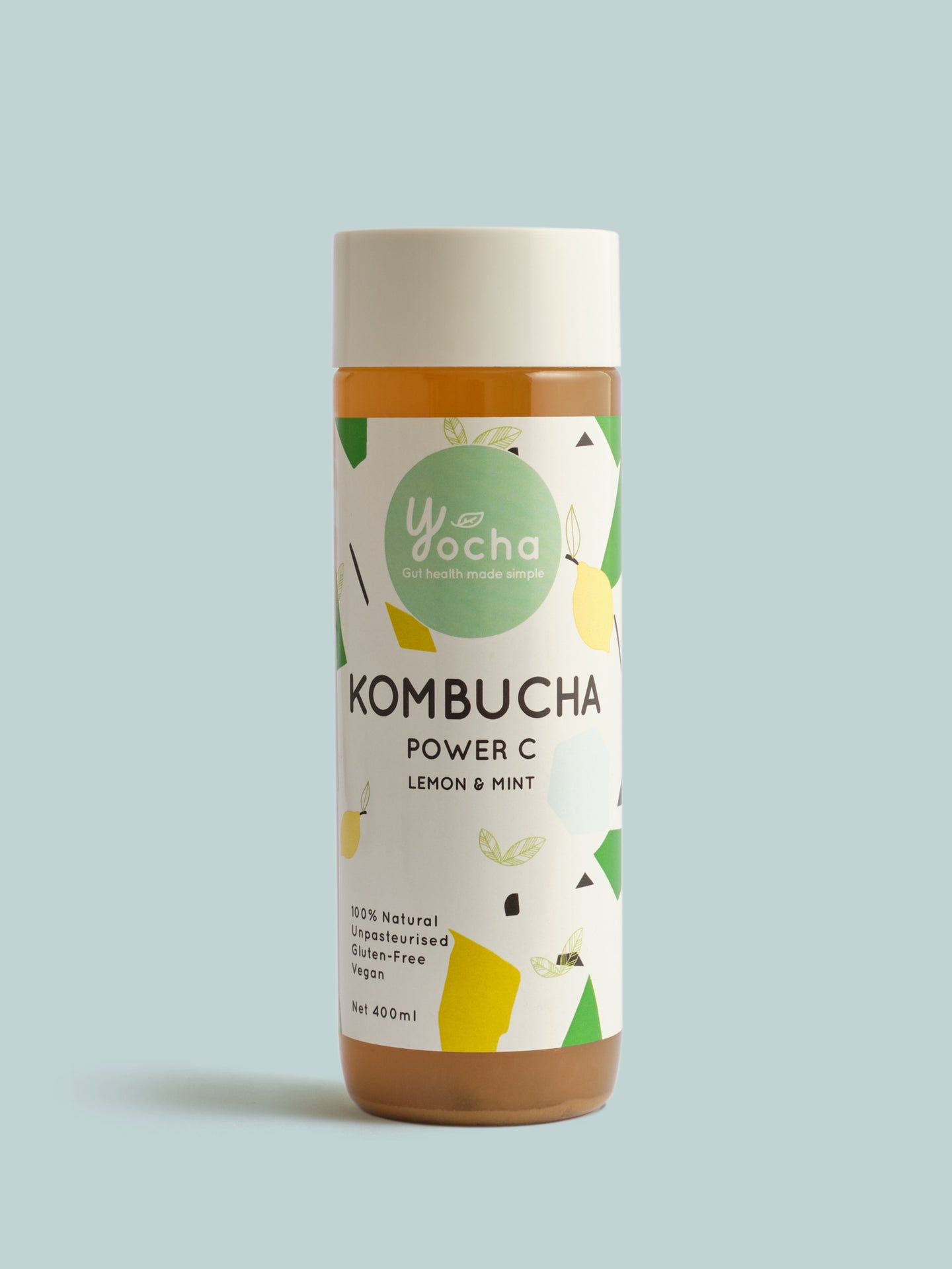 Yocha Kombucha Power C: Lemon & Mint 400ml