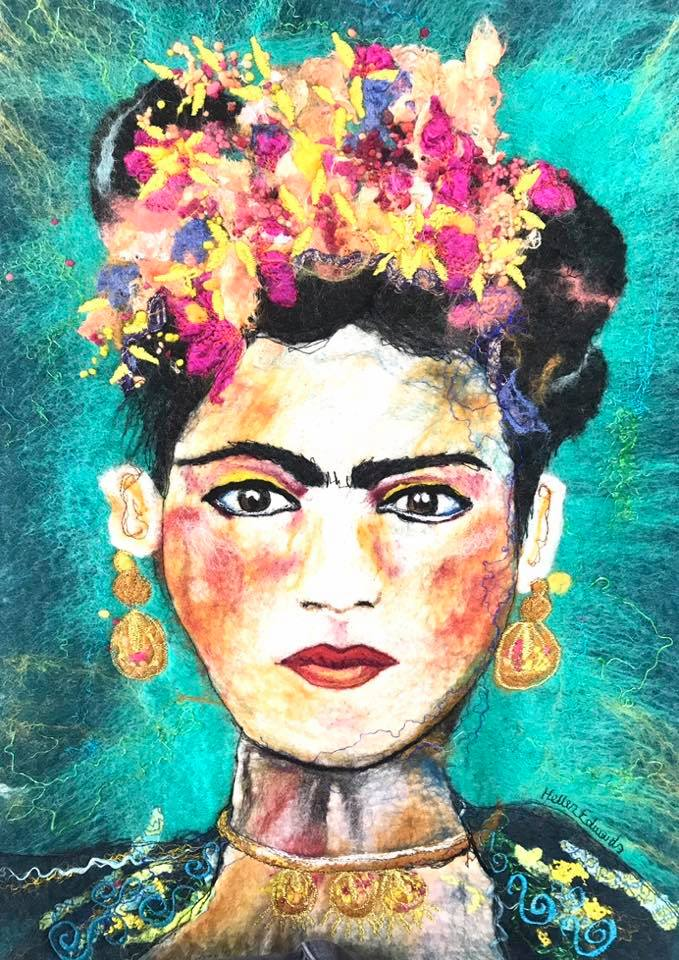 Frida Kahlo Felt Picture | Helen Edwards | Higgler