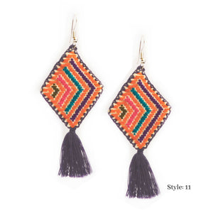 Harper Embroidered Earrings