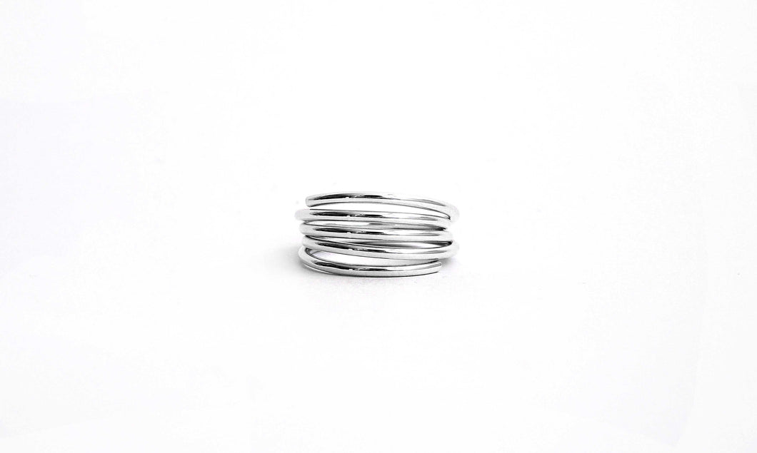 Amaya Silver Coil Ring
