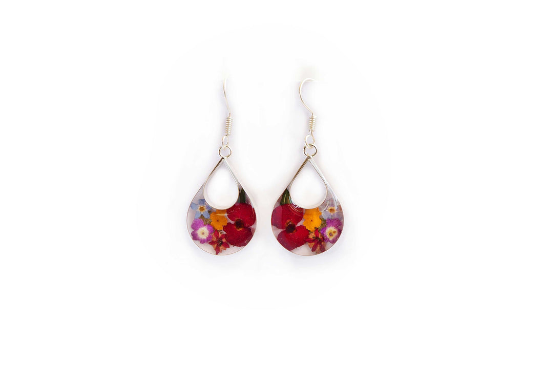 Fleur Floral Inlay Resin Earrings