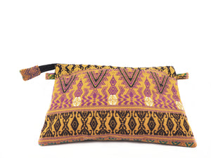 Lemon Huipil Clutch