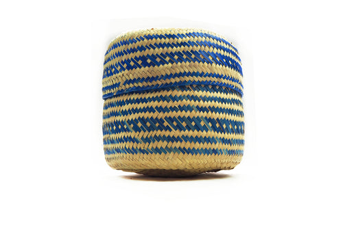 Emine Handwoven Palm Leaf Basket