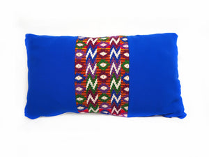 Tecpán Azul Huipil Cushion