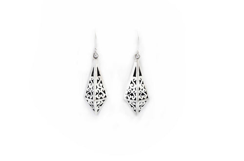 Tata Diamond Silver Earrings
