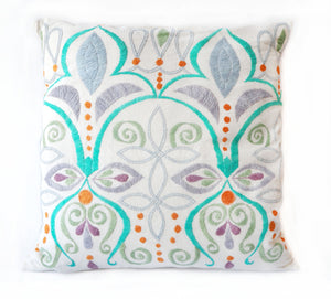 Embroidered Bloom Cushion