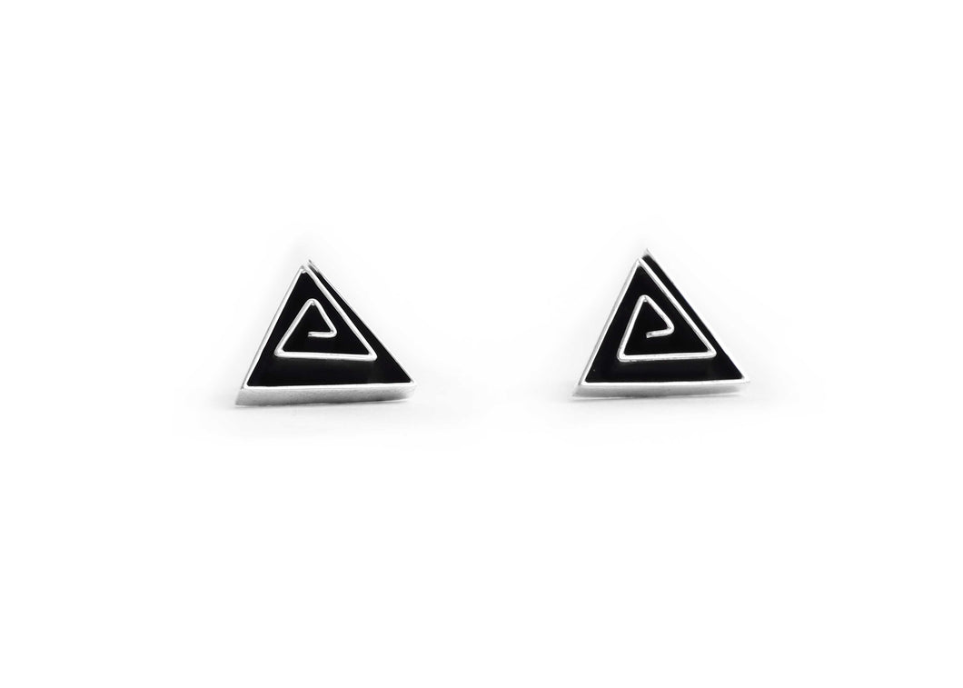 Katniss Triangle Stud Earrings