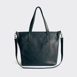 Tote Variation- black leather