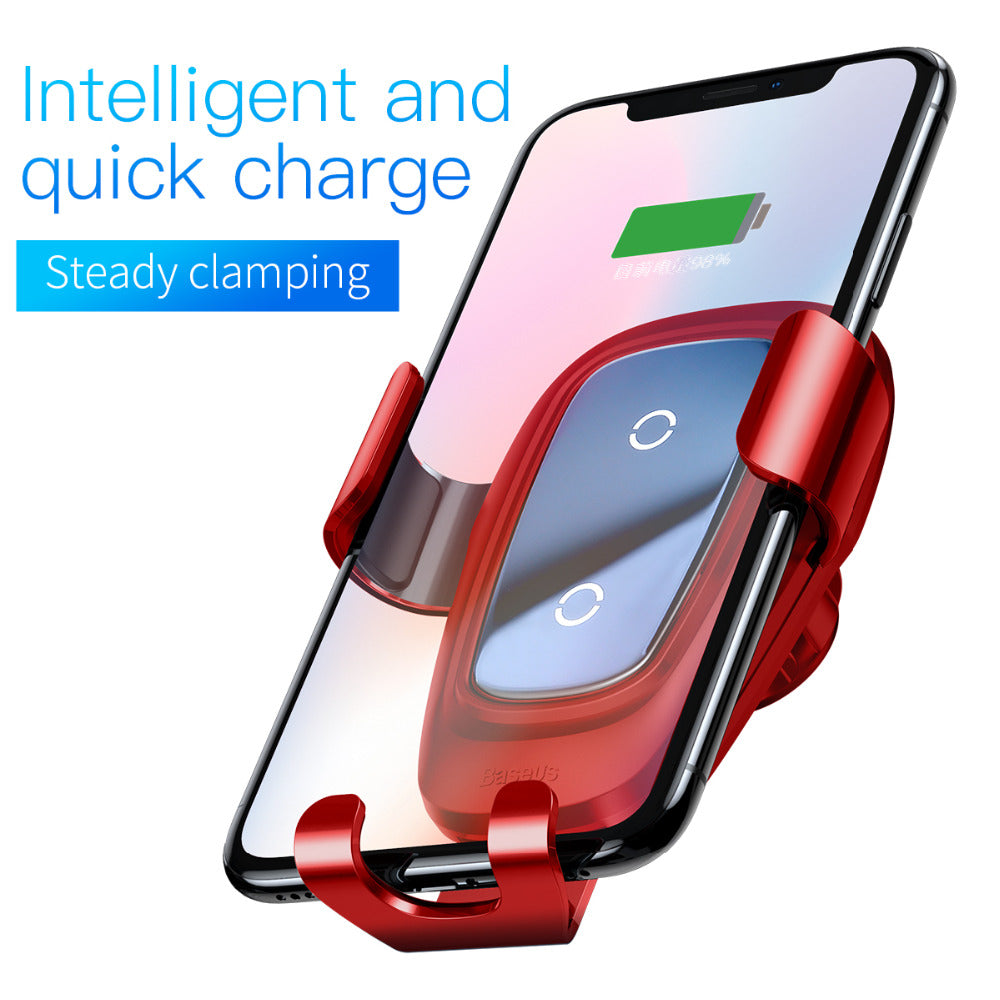 Upgraded Edition Metal Car Mount Qi Wireless Fast Charger