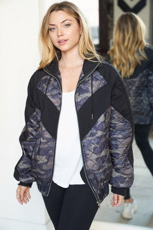 Camouflage woven Jacket