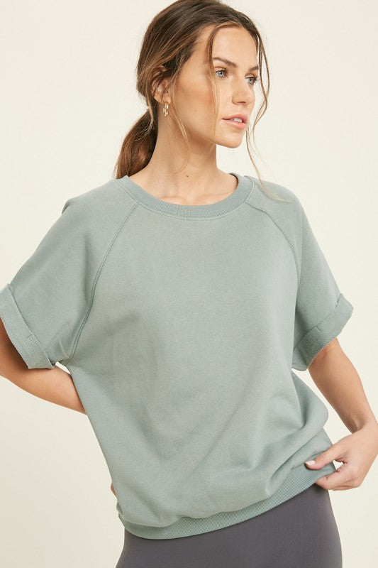 FRENCH TERRY RAGLAN TOP
