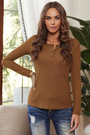 SOLID RIBBED TEXTURE TOP (S-2XL)