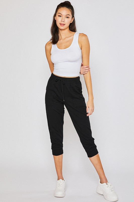 TERRY HIGH RISE BOYFRIEND OVERSIZED CAPRI