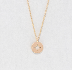 DAINTY CHARM COMPASS NECKLACE