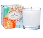 Lotus Blossom Acai Soy Candle in CLEAR glass 11 oz