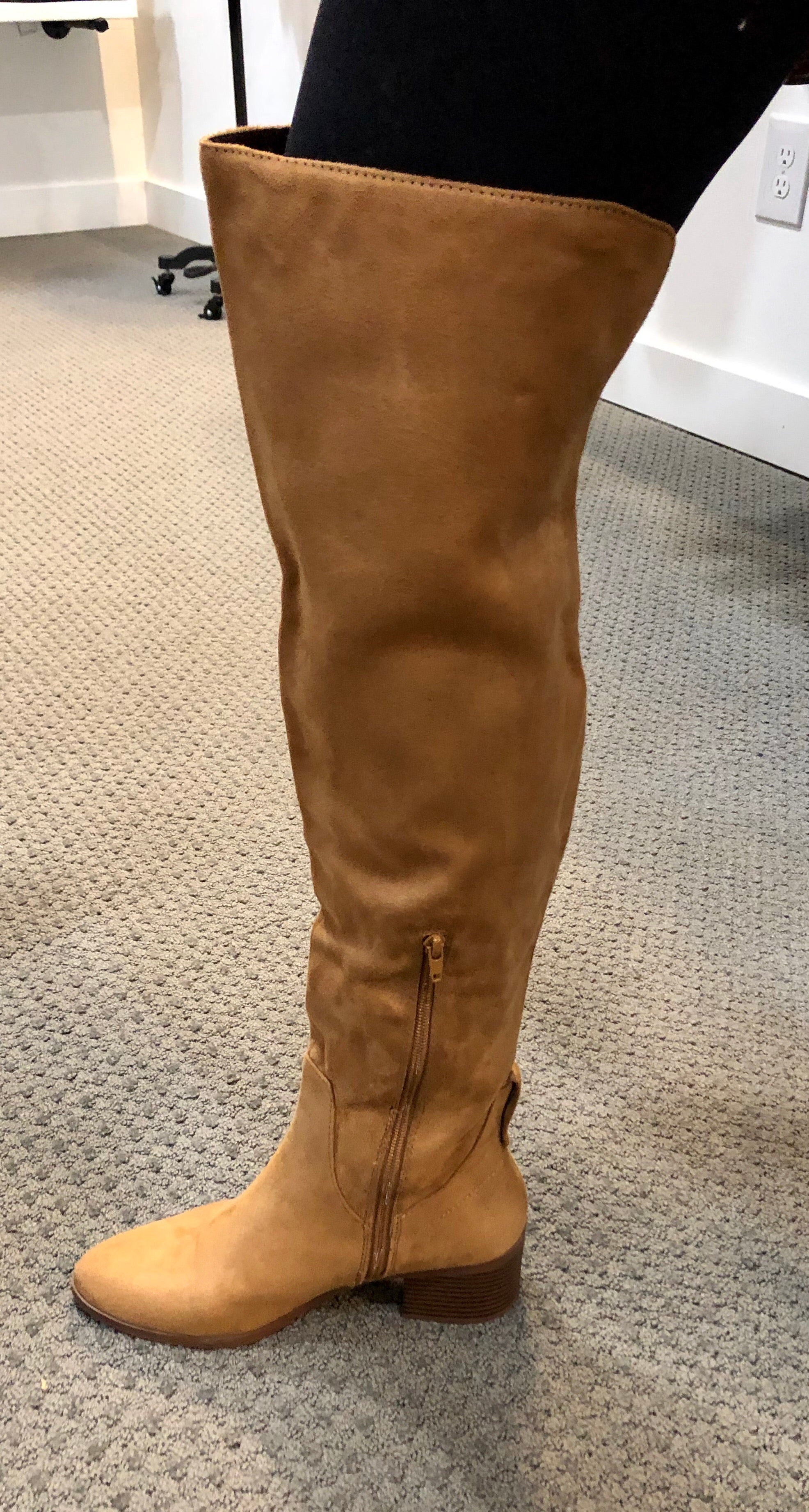 Over the Knee Vegan Suede Boot