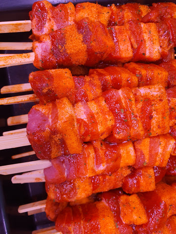 PORK BELLY SKEWERS