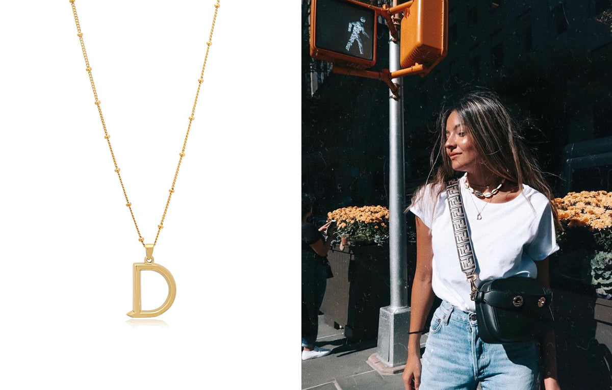 Deniz Colak Initial Necklace
