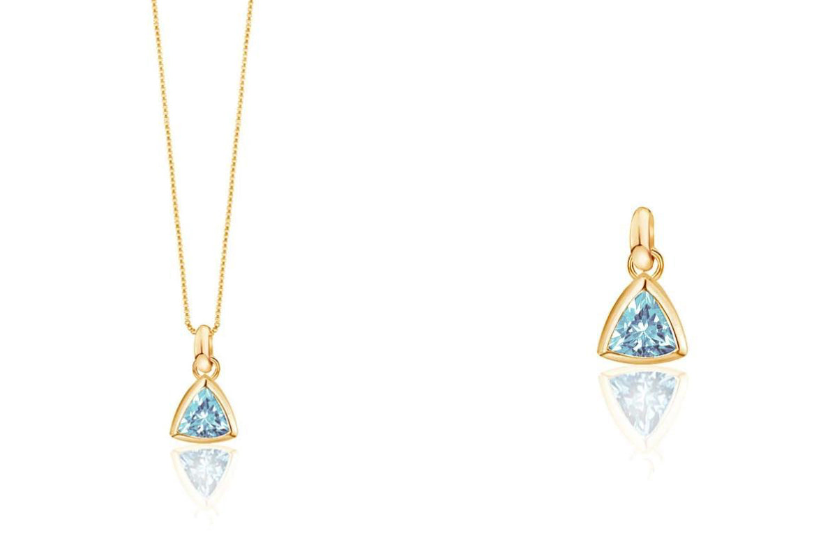 Blue Topaz Birthstone Necklace - Edge of Ember