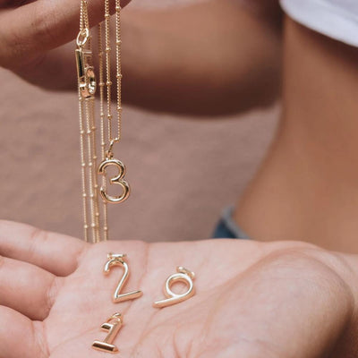 Lucky Number 2 Necklace - Edge of Ember Jewellery
