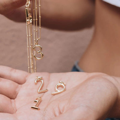 Lucky Number 9 Necklace - Edge of Ember Jewellery