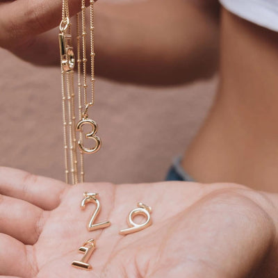 Lucky Number 3 Necklace - Edge of Ember Jewellery