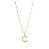 C Initial Necklace - Gold - Edge of Ember Jewellery