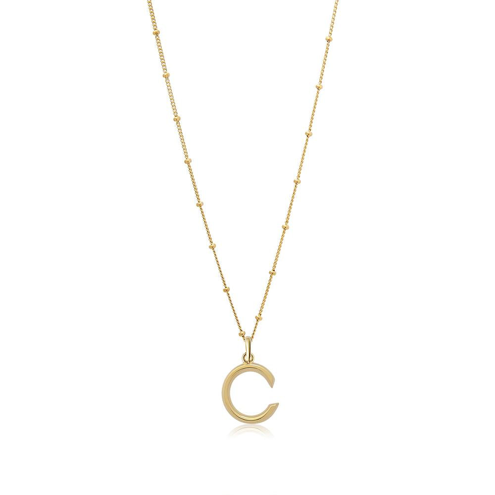 C Initial Necklace - Edge of Ember Jewellery