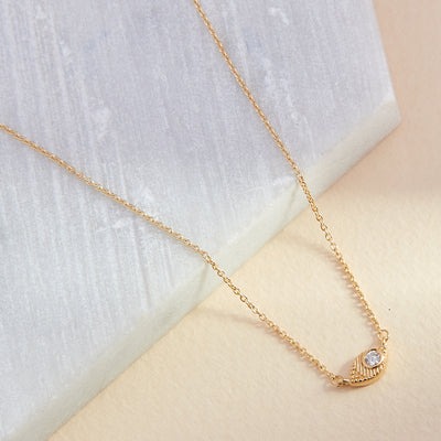 Evil Eye Diamond Necklace  - Yellow Gold