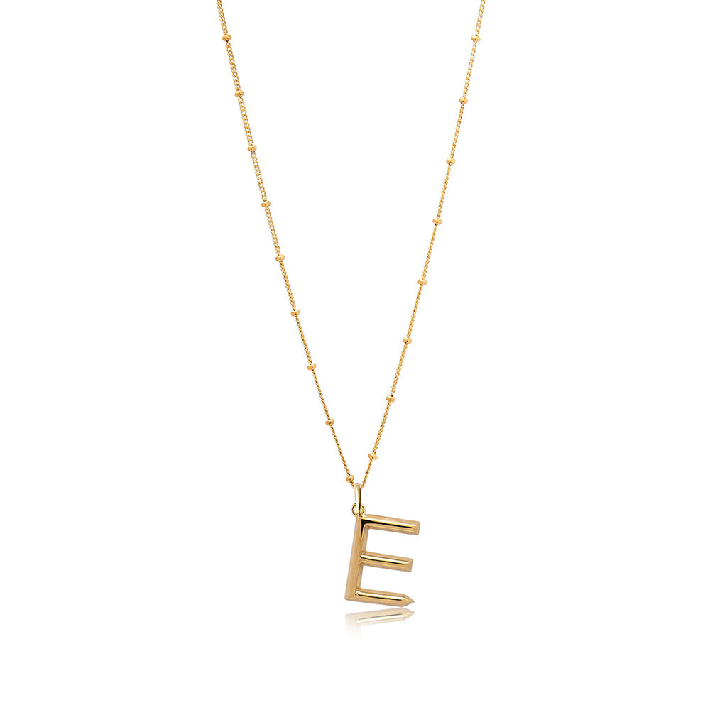 E Initial Necklace - Edge of Ember Jewellery