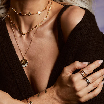 Inthefrow Orion Necklace - Gold - Edge of Ember Jewellery