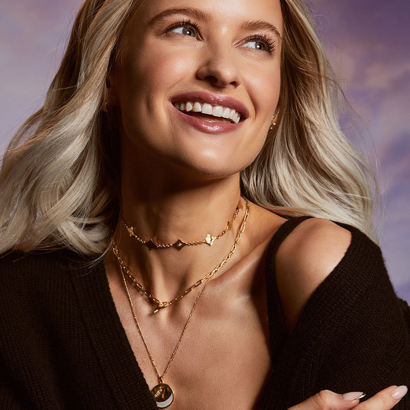 Inthefrow Supernova Choker Necklace - Gold