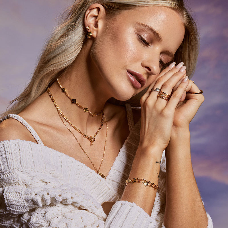Inthefrow Saturn Bracelet - Gold - Edge of Ember Jewellery