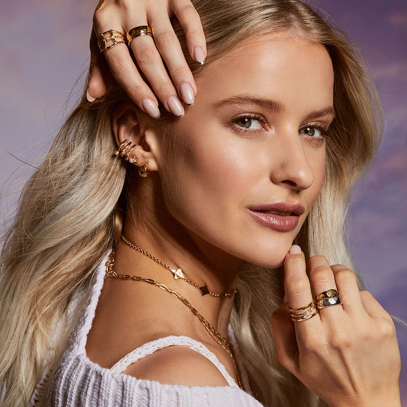 Inthefrow Halo Huggies - Silver - Edge of Ember Jewellery