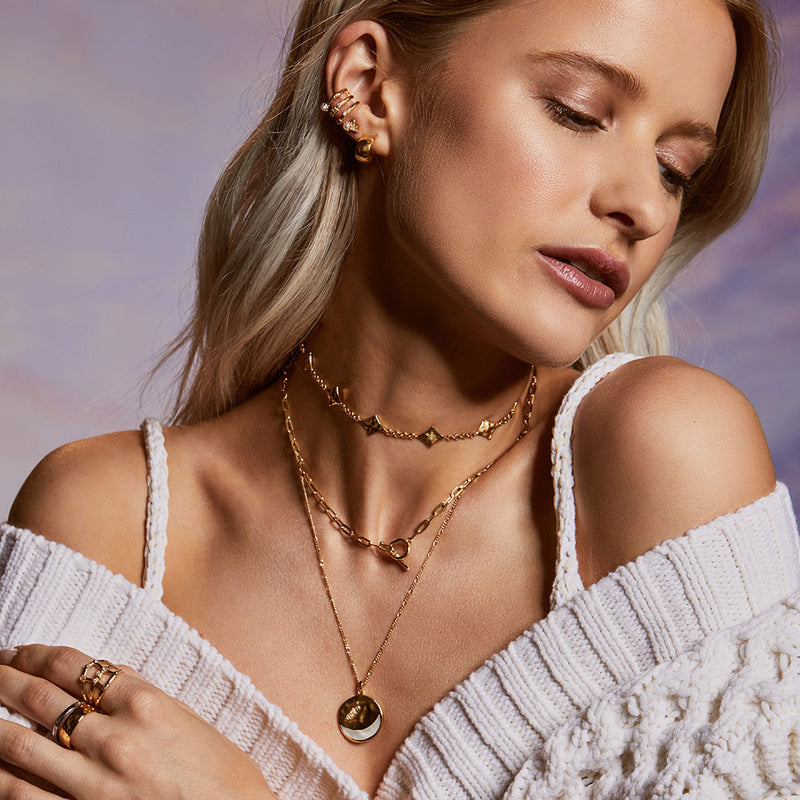 Inthefrow Saturn Silver Necklace