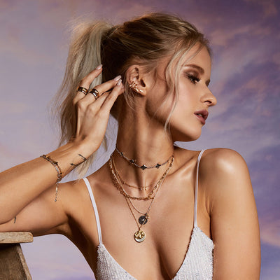 Inthefrow Milky Way Silver Necklace - Edge of Ember Jewellery