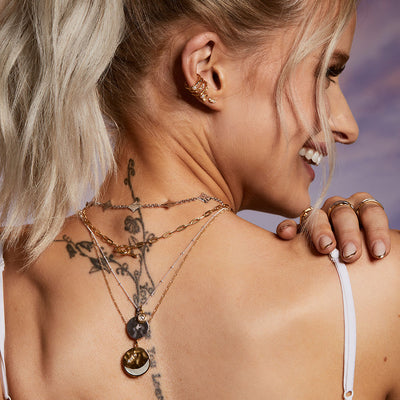 Inthefrow Zodiac Pendant - Gold - Edge of Ember Jewellery
