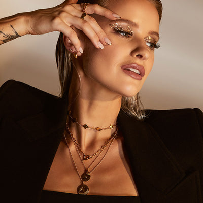 Inthefrow Zodiac Necklace - Gold - Edge of Ember Jewellery