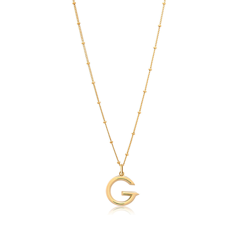 G Initial Necklace - Edge of Ember Jewellery